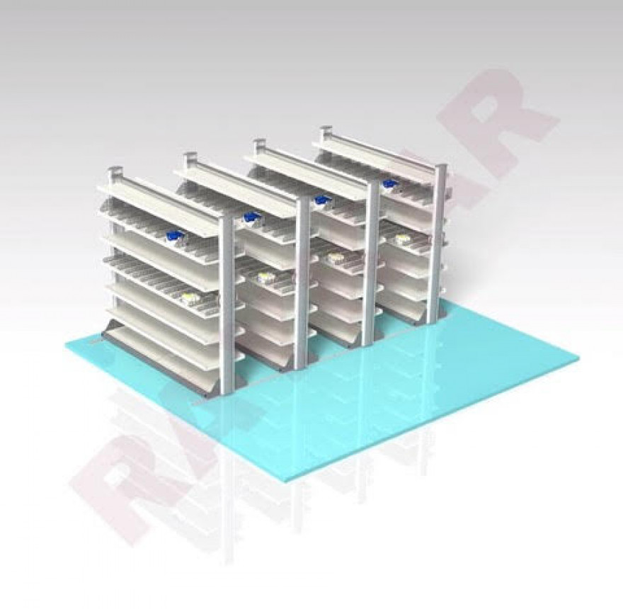 Railed Medical Storage System